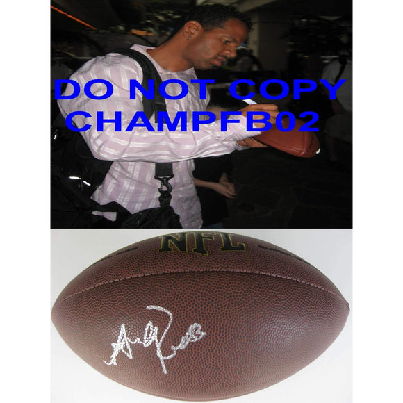 Andre Reed Buffalo Bills, 2014 Hall of Fame signed, autographed football - COA and proof photo