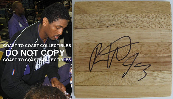 Ron Artest Kings Lakers St Johns signed autographed basketball floorboard proof