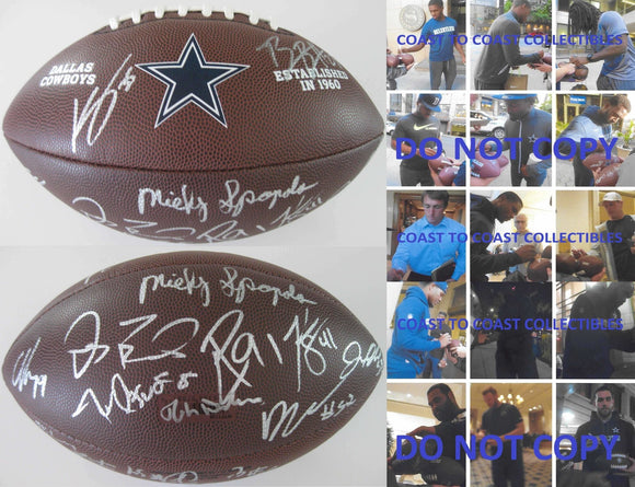 2017 Dallas Cowboys team, signed, autographed, NFL logo football - COA and proof will be included