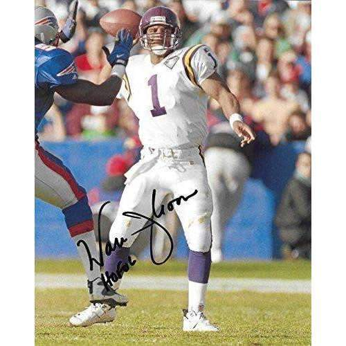 Warren Moon, Minnesota Vikings, Hall of Fame, Signed, Autographed, 8X10 Photo, a COA with the Proof Photo of Warren Signing Will Be Included.