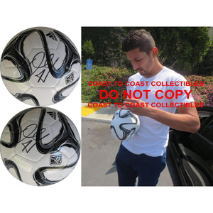 Omar Gonzalez, LA Galaxy, Signed, Autographed, MLS Soccer Ball, a COA with the Proof Photo of Omar Signing the Ball Will Be Included