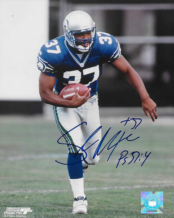 Shaun Alexander Seattle Seahawks signed autographed 8X10 photo,proof COA