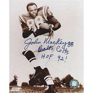 John Mackey, Baltimore Colts, Hall of Fame, Hof, Signed, Autographed, 8x10 Photo, a Coa Will Be Included