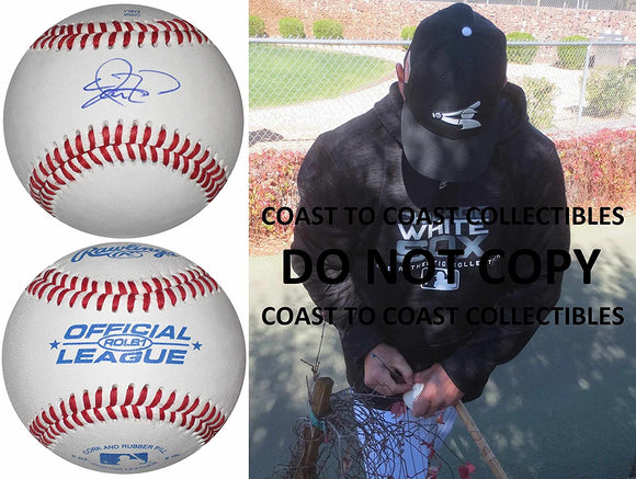 Aaron Rowand SF Giants White Sox Phillies signed autographed baseball COA proof