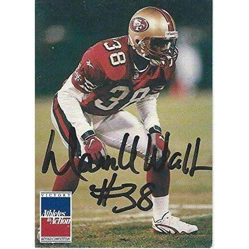 Darnell Walker, San Francisco 49ers, Signed, Autographed, Football Card, a COA Will Be Included
