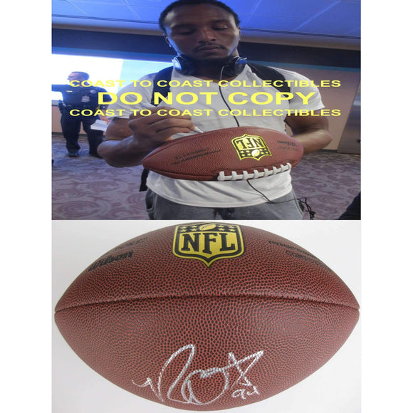 Robert Quinn, St. Louis Rams, Rams, North Carolina, Tar Heels, Signed, Autographed, NFL Duke Football, a COA with the Proof Photo of Robert Signing Will Be Included