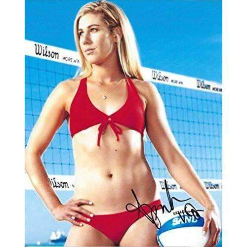 April Ross, Olympics, Volleyball Player, signed, autographed, 8x10 photo - COA with proof included