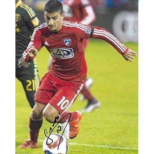 Mauro Diaz, FC Dallas, Argentine, Signed, Autographed, 8x10 Photo, a Coa with the Proof Photo of Mauro Signing the Ball Will Be Included.