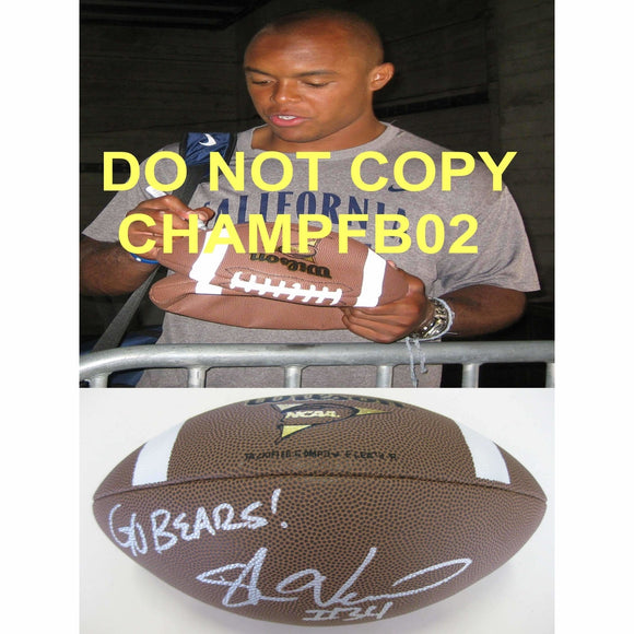 Shane Vereen, California Bears, Cal, New England Patriots, Signed, Autographed, Ncaa Football, a Coa with the Proof Photo of Shane Signing Will Be Included