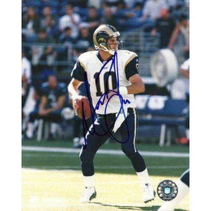 Marc Bulger, St Louis Rams, West Virginia, Signed, Autographed, 8x10 Photo, Coa, Rare Hard Photo to Find