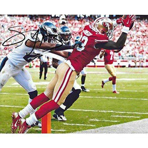 Steve Johnson, San Francisco 49ers, Signed, Autographed, 8X10 Photo, a COA with the Proof Photo of Steve Signing Will Be Inlcuded