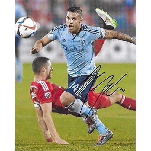 Dom Dwyer, Sporting Kansas City, Signed, Autographed, 8x10 Photo, a Coa with the Proof Photo of Dom Signing Will Be Included,.