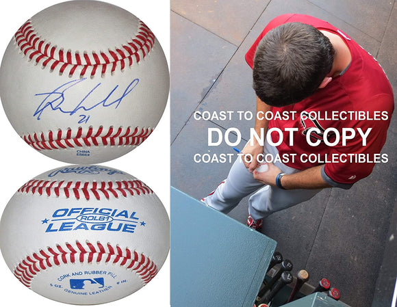 Ryan Wheeler Colorado Rockies Diamondbacks signed autographed baseball COA proof