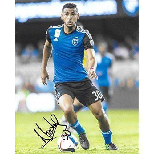 Anibal Godoy, San Jose Earthquakes, Panama, signed, autographed, soccer 8x10 photo - COA and proof.