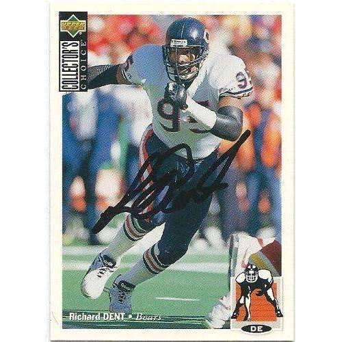 1994, Richard Dent, Chicago Bears, Signed, Autographed, Upper Deck Football Card, Card # 151,