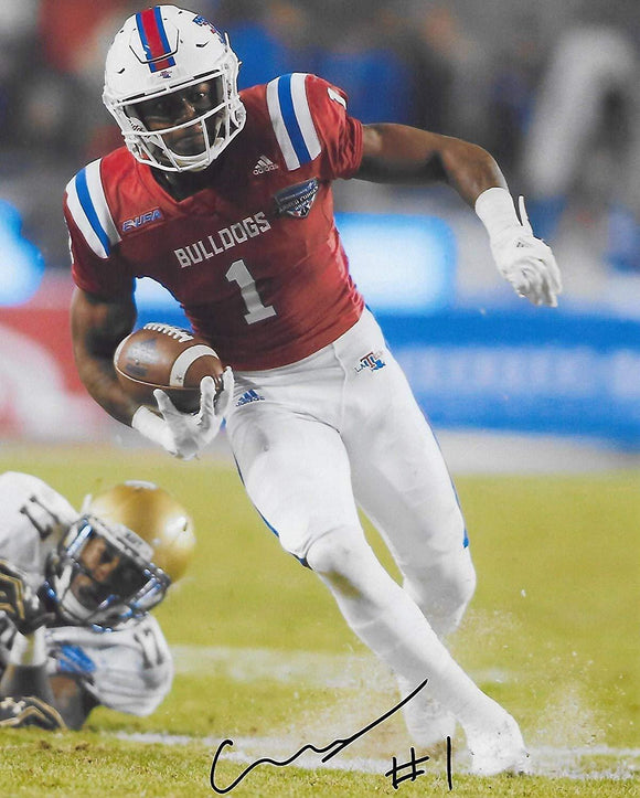 Carlos Henderson, Louisiana Tech, signed, autographed, 8X10 Photo, COA with the Proof Photo signing will be included