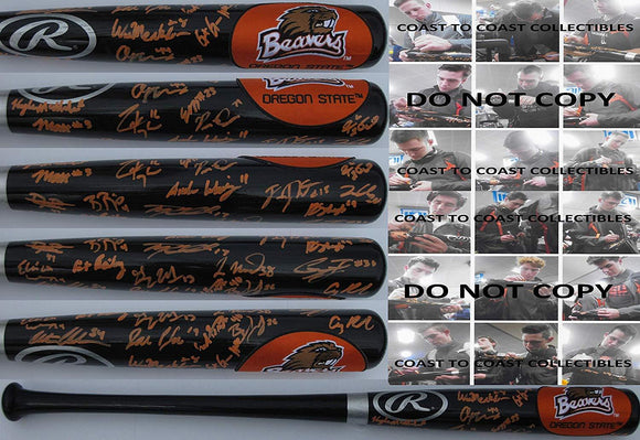 2019 Oregon State Beavers team signed autographed Baseball Bat, COA with the proof photos will be included.