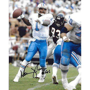 Warren Moon, Houston Oilers, Hall of Fame, Signed, Autographed, 8X10 Photo, a COA with the Proof Photo of Warren Signing Will Be Included==