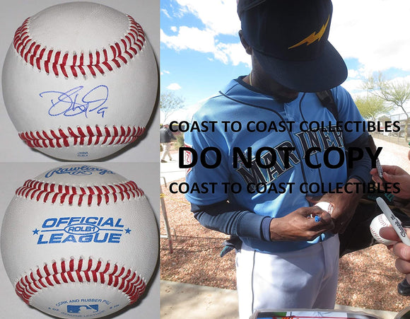 Dee Gordon Seattle Mariners Dodgers Marlins signed autographed baseball proof COA
