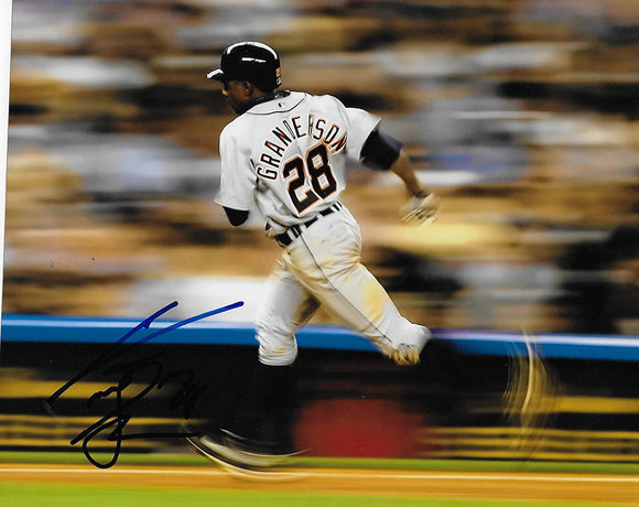 Curtis Granderson Detroit Tigers signed baseball 8x10 photo COA