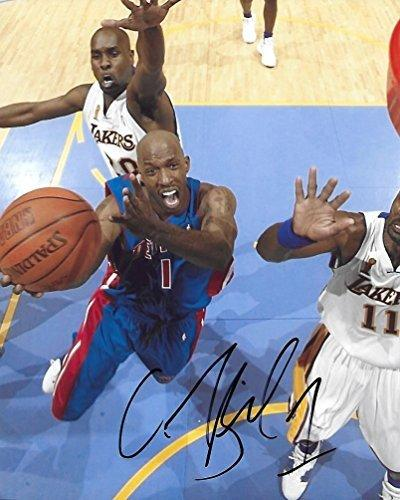 Chauncey Billups, Detroit Pistons, Signed, Autographed, Basketball 8x10 Photo,.,.