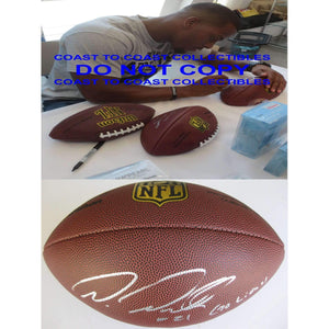 Ameer Abdullah Detroit Lions signed, autographed NFL Duke football - Proof photo and COA included