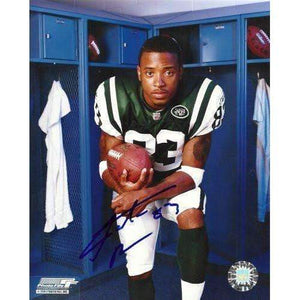 Santana Moss, New York Jets, Miami Hurricanes, Signed, Autographed, 8x10 Photo, Coa, Rare Hard Photo to Find