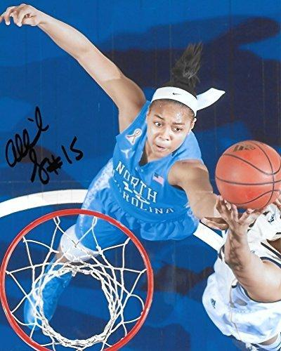 Allisha Gray, North Carolina Tar heels, signed, autographed, 8x10 photo - COA and Proof Included