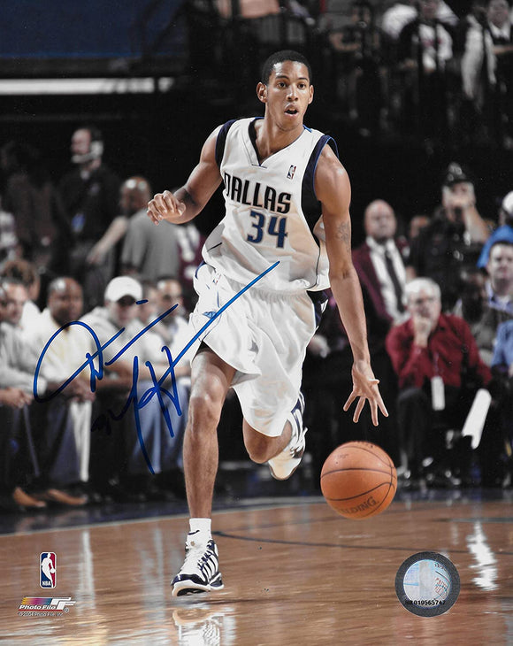 Devin Harris signed Dallas Mavericks basketball 8x10 photo COA