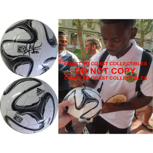 Maurice Edu, Philadelphia Union, Stoke City, Signed, Autographed, Mls Soccer Ball, a Coa with the Proof Photo of Maurice Signing the Ball Will Be Included