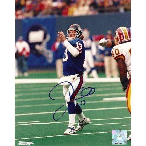 Danny Kanell, New York Giants, Flordia State, Fsu, Signed, Autographed, 8x10 Photo, Coa, Rare Hard Photo to Find