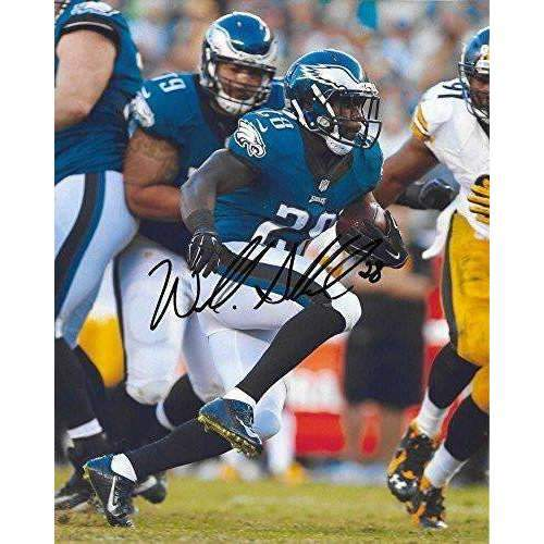 Wendall Smallwood, Philadelphia Eagles, West Virginia, Signed, Autographed, 8X10 Photo, a COA with the Proof Photo of Wendall Signing Will Be Included.