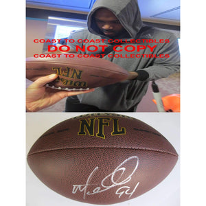 Mario Williams Miami Dolphins, Buffalo Bills, Houston Texans, Signed, Autographed, NFL Football, a Coa with the Proof Photo of Mario Signing Will Be Included with the Football
