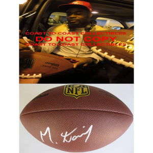 Mike Davis, Seattle Seahawks, 49ers, South Carolina, Signed, Autographed, NFL Duke Football, a COA with the Proof Photo of Mike Signing Will Be Included
