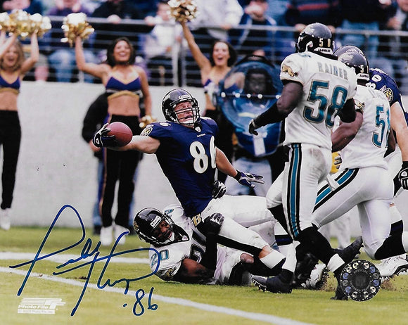 Todd Heap Baltimore Ravens signed autographed 8x10 Photo, COA will be included.