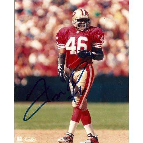 TIM MCDONALD SAN FRANCISCO 49ERS,NINERS,SIGNED,AUTOGRAPHED 8X10,PHOTO,COA,RARE HARD TO FIND PHOTO