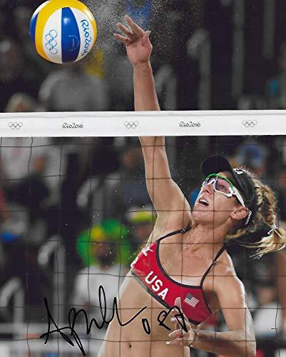 April Ross, USA Olympic, Volleyball Player, Signed, Autographed, 8x10, Photo, a COA with the Proof Photo of April Signing Will Be Included-