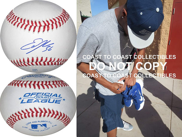 Edwin Jackson St Louis Cardinals Tigers signed autographed baseball COA proof