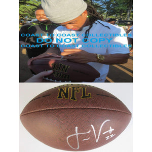 Jason Verrett, San Diego Chargers, Signed, Autographed, NFL Football, a Coa with the Proof Photo of Jason Signing Will Be Included with the Football
