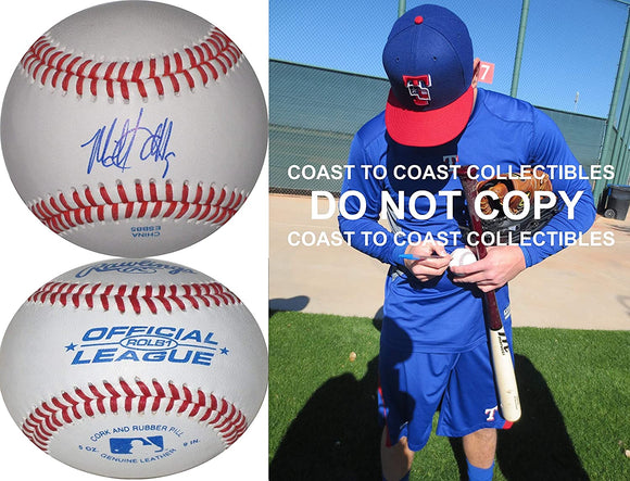 Mike Olt Texas Rangers Chicago Cubs White Sox signed autographed baseball proof