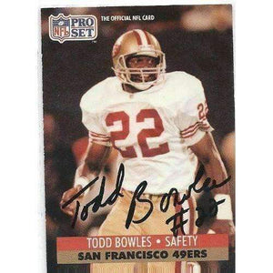 1991, Todd Bowles, San Francisco 49ers, Signed, Autographed, Pro Set Football Card, Card # 649,