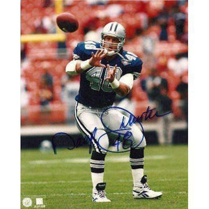 Daryl Johnston, Moose, Dallas Cowboys, Syracuse, Signed, Autographed, 8x10 Photo, Coa, Rare Hard Photo to Find