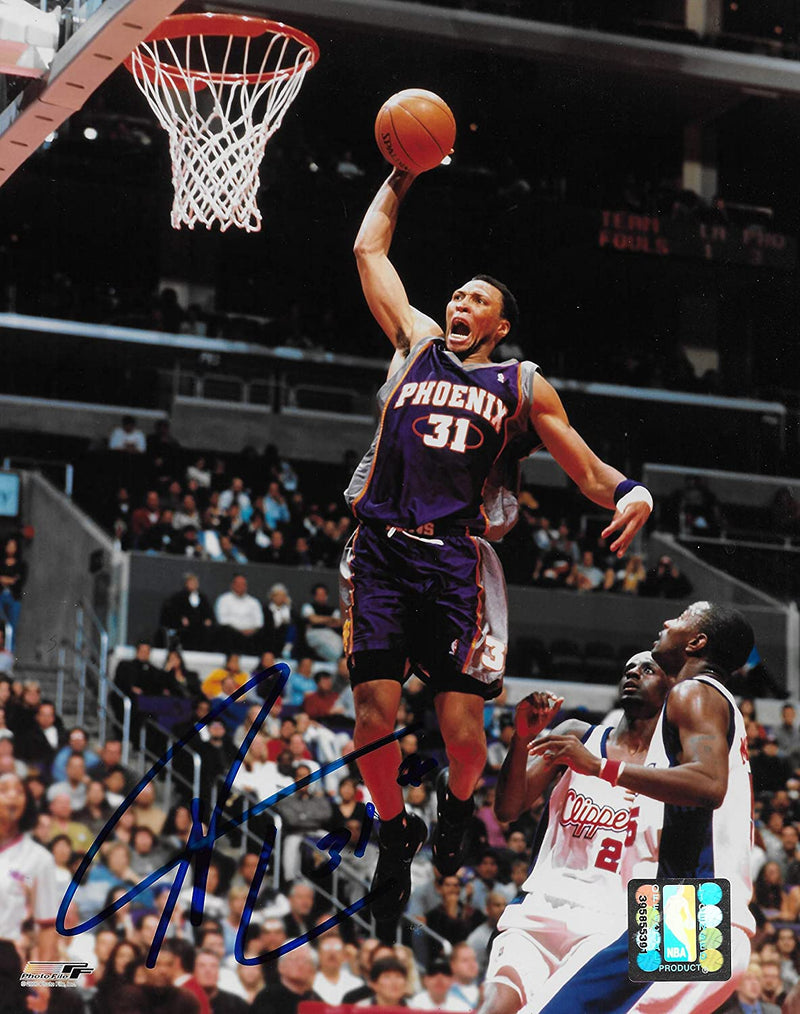 Shawn Marion signed Phoenix Suns basketball 8x10 photo COA.