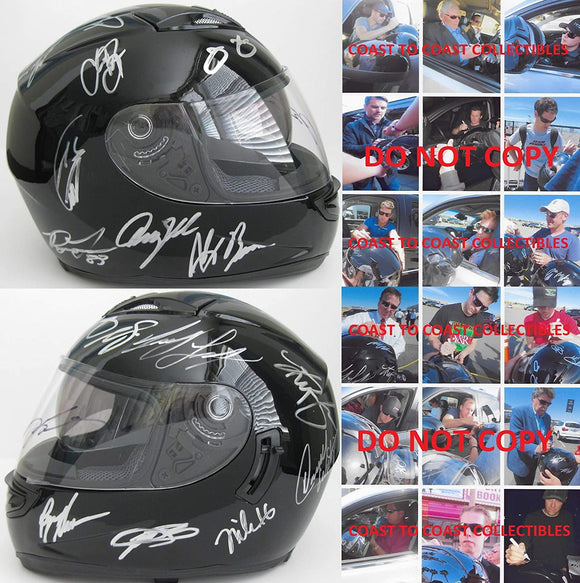 Nascar Drivers signed autographed full size helmet Gordon, Johnson + more proof