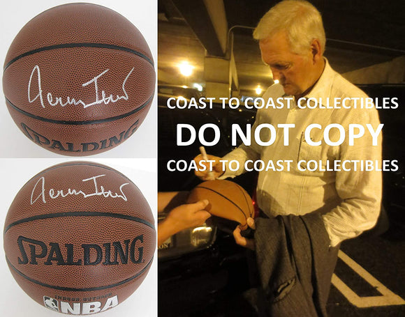 Jerry West Los Angeles Lakers signed autographed NBA basketball COA exact proof