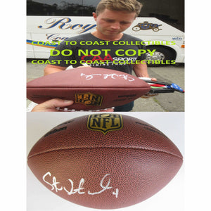 Steven Hauschka Seattle Seahawks, Signed, Autographed, NFL Duke Football, a COA with the Proof Photo of Steven Signing Will Be Included with the Ball