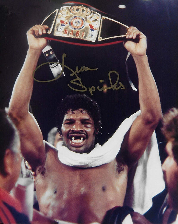 Leon Spinks Boxing champ signed autographed,8x10 photo, COA