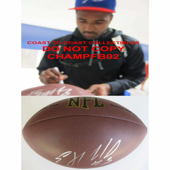 EJ Manuel, Oakland Raiders, Buffalo Bills, Florida State, FSU, Signed, Autographed, NFL Football, A Coa with the Proof Photo of EJ Signing Will Be Included with the Football