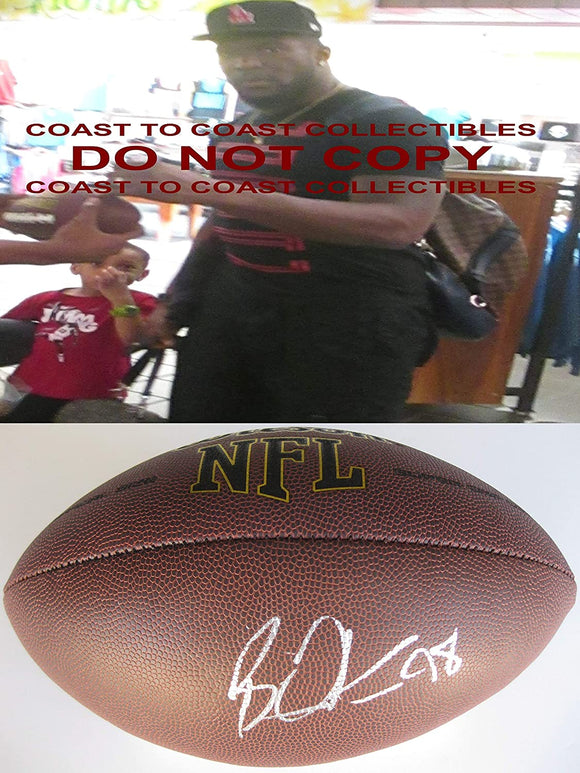 Brian Orakpo Tennessee Titans Texas Longhorns signed autographed NFL Football COA Proof