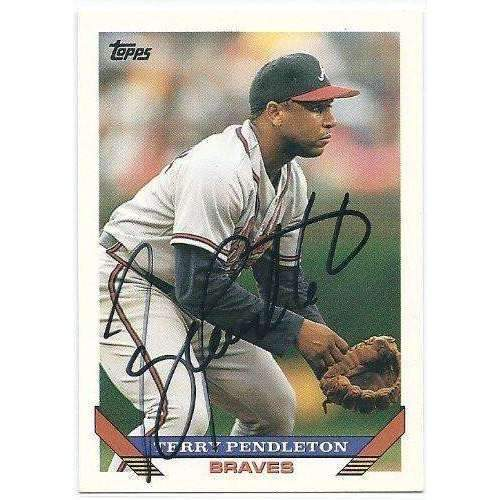 1993, Terry Pendleton, Atlanta Braves, Signed, Autographed, Topps Baseball Card, Card # 650,